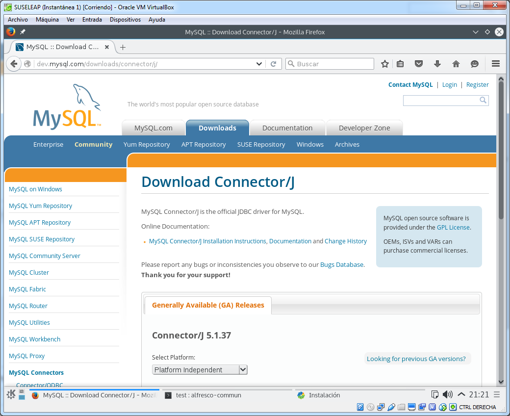Download MySQL JDBC Connector