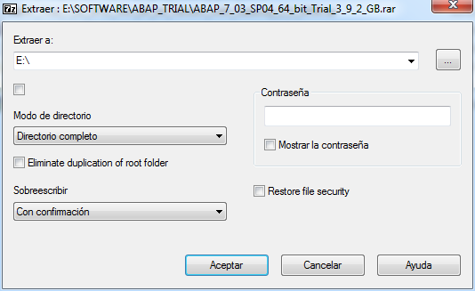 7zip extraccion del instalador