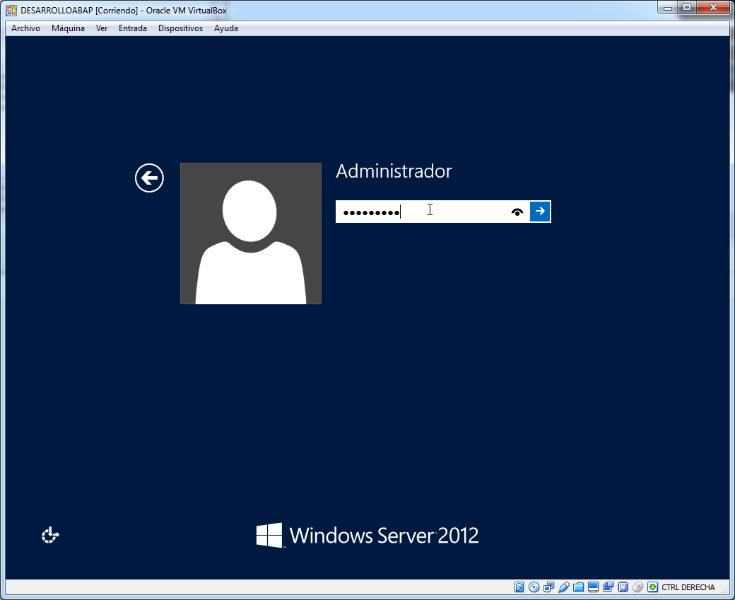 Acceso a Windows 2012 R2 Server