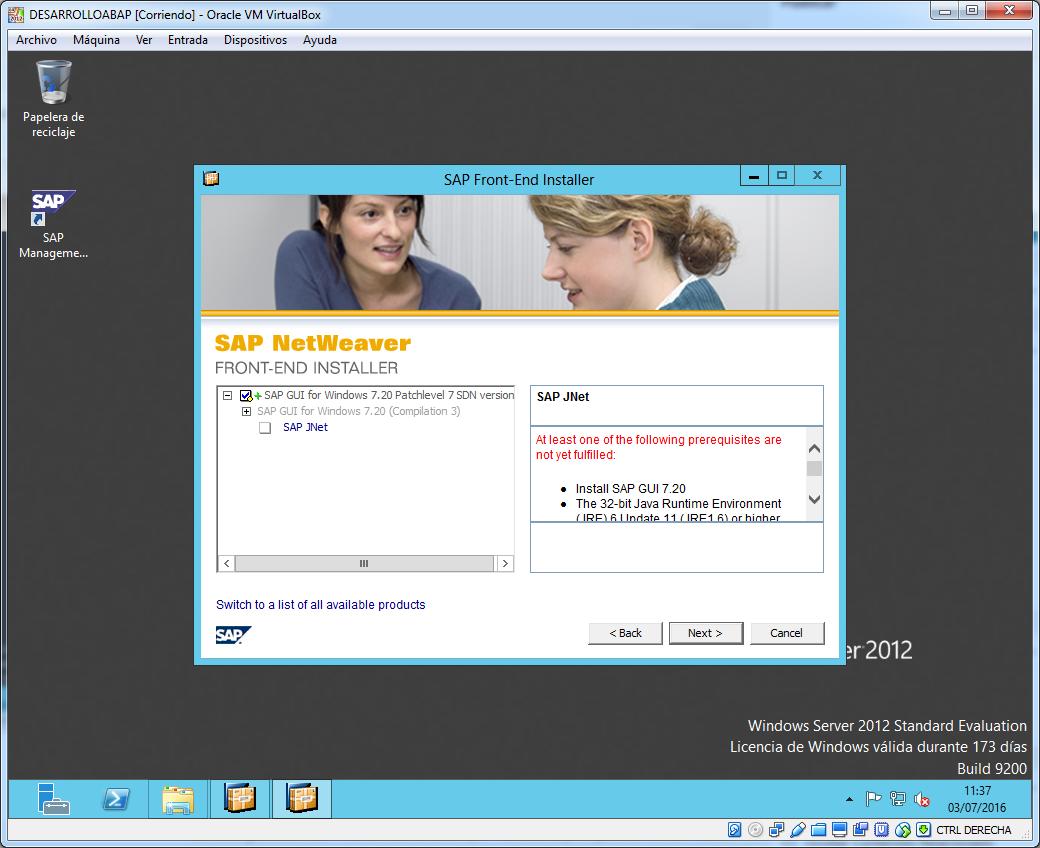 Alerta Java instalacion SAP Gui