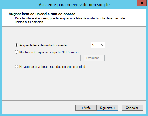 Crear volumen simple asignar letra