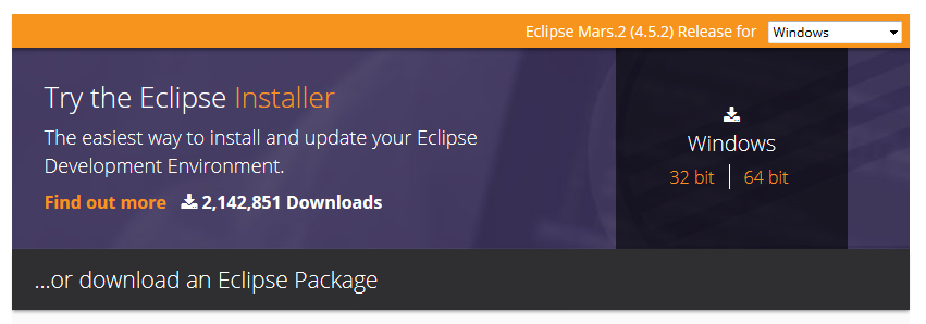 Eclipse Mars.2 (4.5.2) Release for Windows