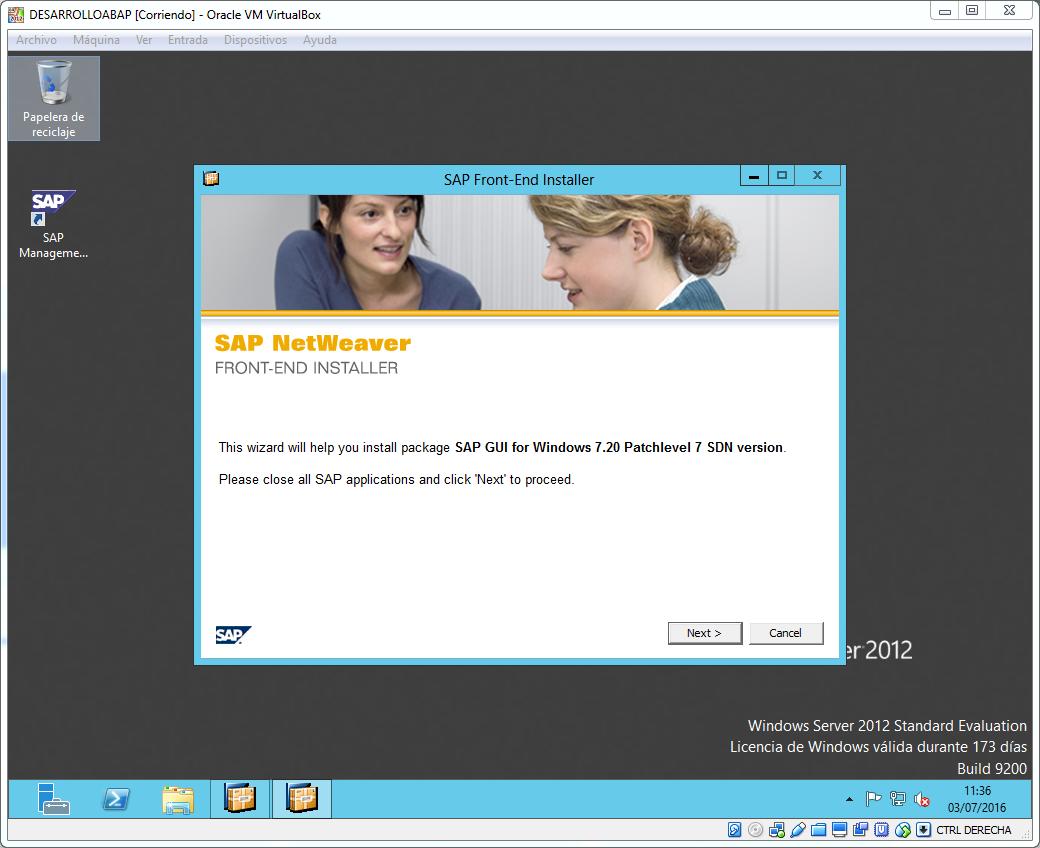 Inicio instalacion SAP Gui