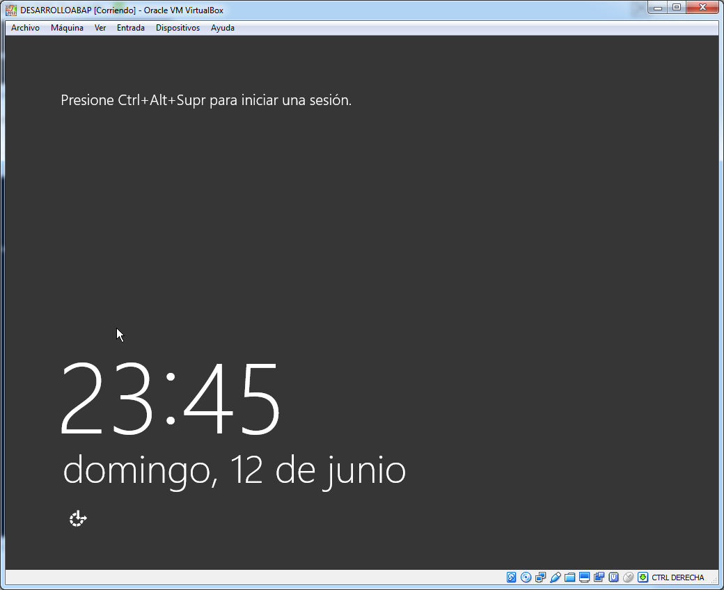 Instalacion de windows server finalizada