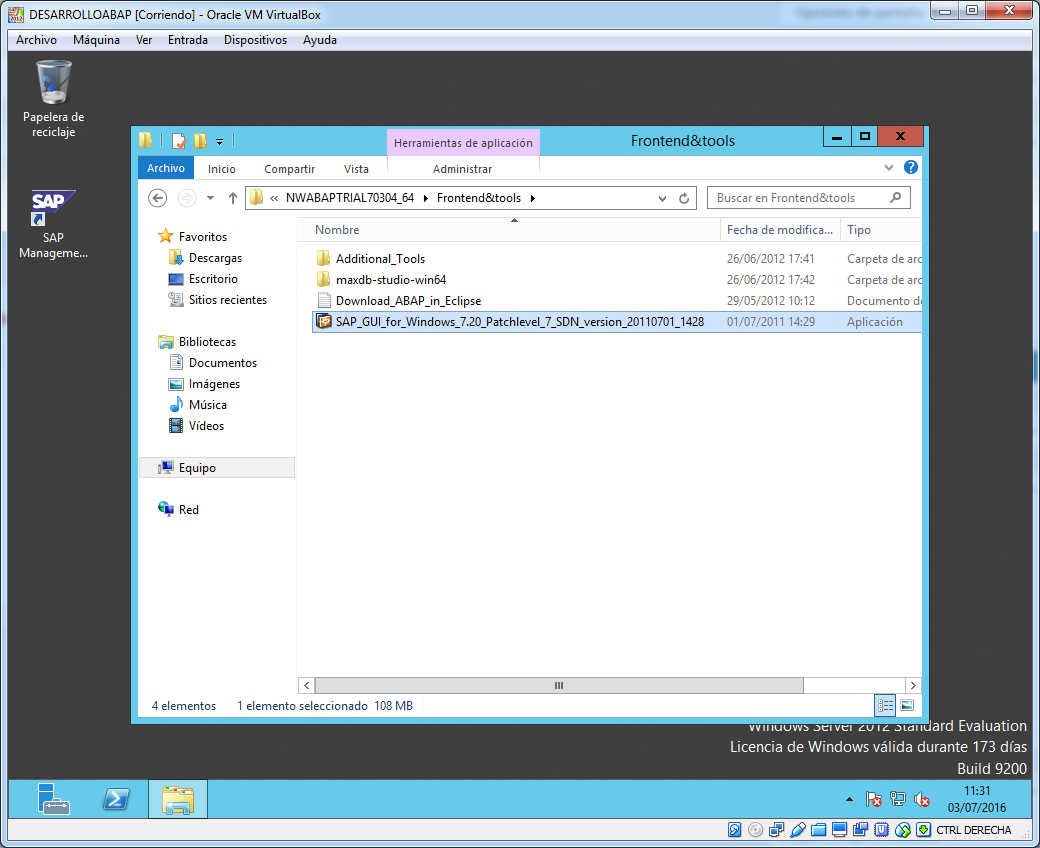 Ubicacion instalador SAP Gui