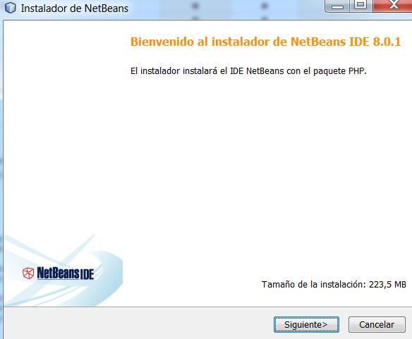 Instalación de Netbeans PHP