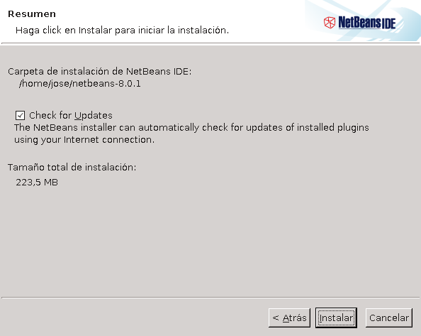 instalador-netbeans-linux-todo-check-for-updates