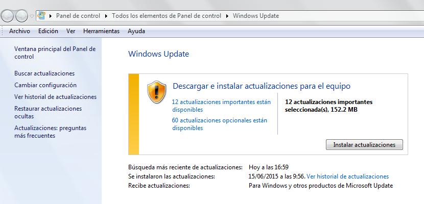 Cómo acceder a Windows Update