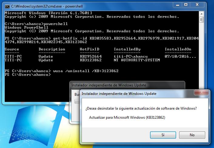 La KB2952664 se resiste