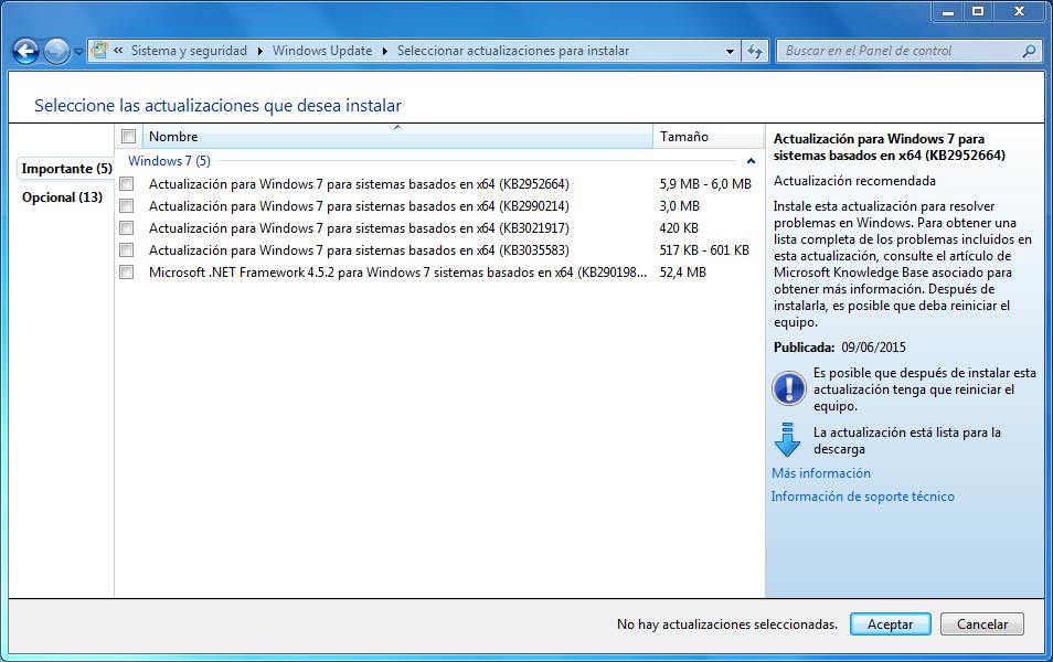 KB Windows 10 Importantes