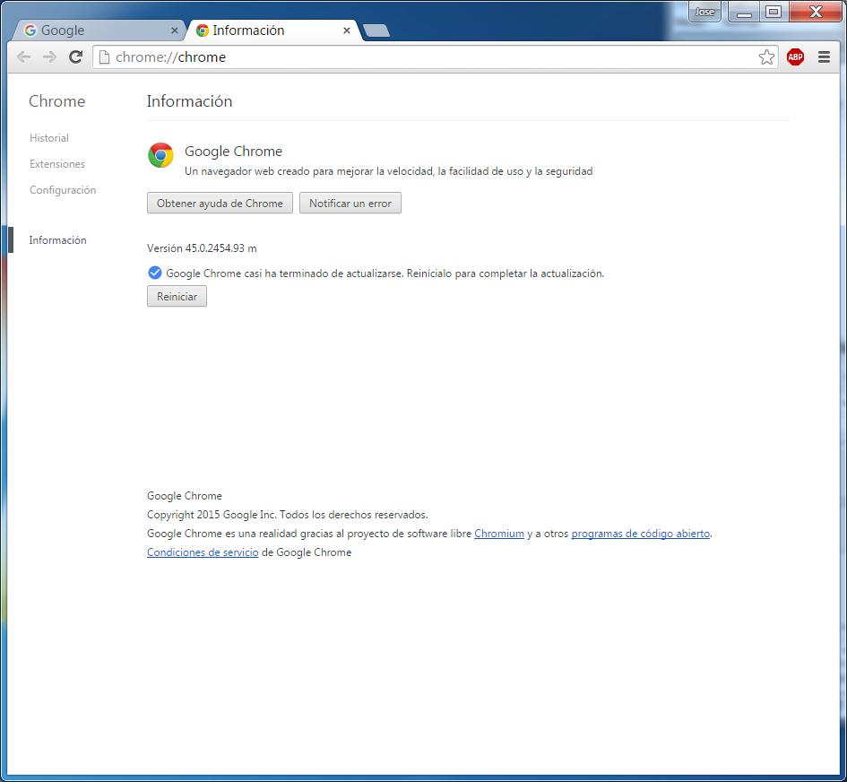 Google Chrome, descargará, descomprimirá e instalará la última versión de los repositorios