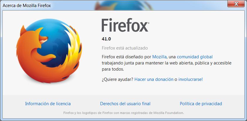 Mozila Firefox Actualizado