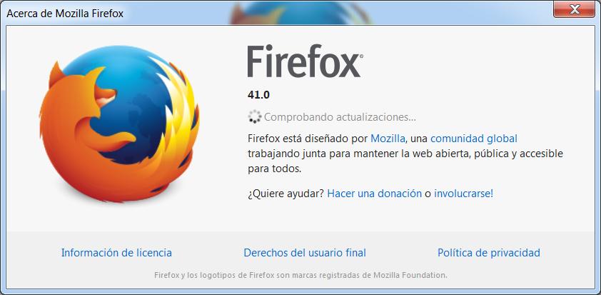 Firefox comprobará si hay actualizaciones