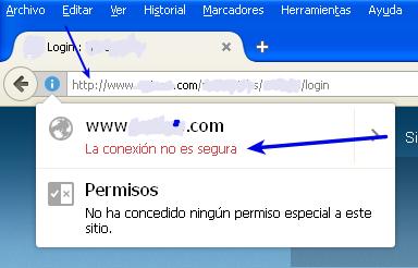 Página web insegura