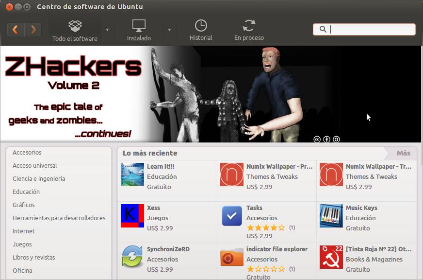 Centro de Software en Ubuntu, nuestro aliado.