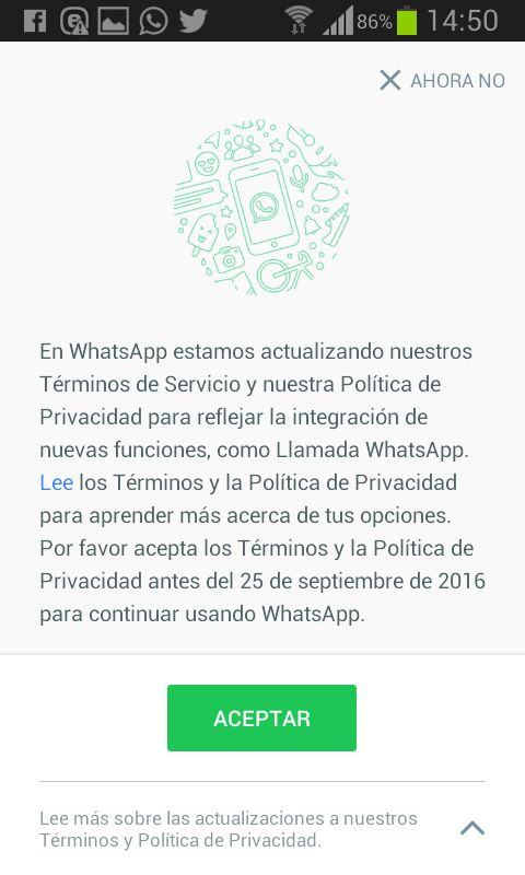 Desde que iniciamos WhatsApp, hemos construido nuestros servicios con fuertes principios de privacidad en mente