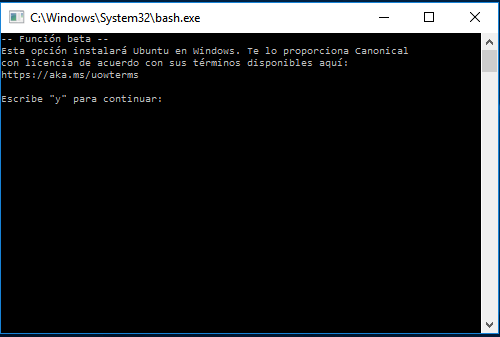 instalar bash windows