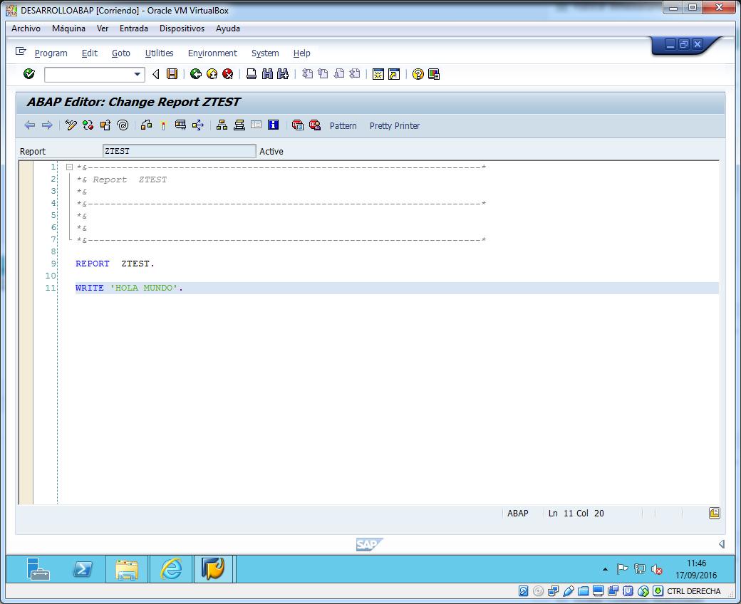 First program code