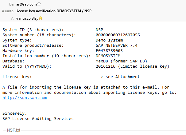 License email
